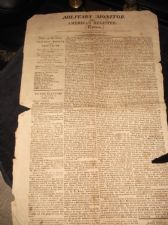 RARE ANTIQUE NEWSPAPER MILITARY MONITOR AMERICAN REGISTER EXTRA APRIL 27 1813